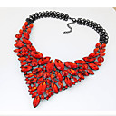 Buy Women's Statement Necklaces Bib necklaces Jewelry Gemstone Crystal Fashion European Luxury Elegant Red Blue