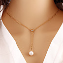 Buy Necklace Pendant Necklaces / Pearl Jewelry Wedding Party Daily Casual Alloy Imitation Gold 1pc Gift