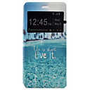 Buy Huawei Case / P9 Lite Windows Flip Full Body Scenery Hard PU Leather