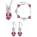 Buy AAA Zircon Crystal Jewelry Set include Necklace & Earrings Wedding Party LadyImitation Diamond Birthstone