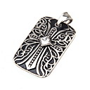 Buy Women's Pendant Necklaces Pendants Stainless Steel Simulated Diamond Cross Fashion Silver Jewelry Daily Casual 1pc