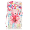Buy PU Leather Material 3D Painting Balloon Bear Pattern Phone Case Huawei P9 Lite