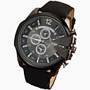 Buy Men's Large Black Case Leather Band Analog Cool Watch Jewelry Gift Wrist Unique Fashion