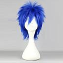 Buy Cosplay Wigs Fairy Tail Mystogan Blue Short Anime 35 CM Heat Resistant Fiber Male