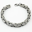 Buy Fashion Men's Great Wall Pattern 316L Stainless Steel Chain Bracelets Christmas Gifts