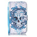 Buy Skull Painted PU Leather Material Card Holder Phone Case iPhone 7 7plus 6S 6plus SE 5S