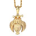 Buy Kalen®Men& Women Accessories Vintage 316L Stainless Steel 18K Gold Plated Animal Owl Eagle Pendant Necklaces
