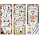 Buy 3sheet/set HOT199-201 new Halloween design Water decal Nail Sticker Art Decals Transfer sticker Tips