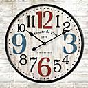 Buy 1PC Europe Type Restoring Ancient Ways Wooden CoNtracted Sitting Room Adornment Clock Quartz (Pattern Random)