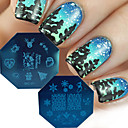 Buy 2016 Christmas Series Nail Art Stamp Templates DIY Santa Claus Tree Decor Nails Tips Manicure Stamping Plates MC01/02