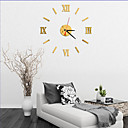 Buy 2016 Direct Selling Mirror Sun Acrylic Wall Clocks 3D Home Decor DIY Crystal Quartz Clock Art Watch
