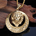 Buy Kalen New Stainless Steel 18K Dubai Gold Plated Roaring Lion Pendant Necklace Twisted Chain Men Gifts