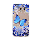 Buy Samsung Galaxy S7Edge S7 S6Edge S6 S5 S4 Case Cover Blue Butterfly Painted Pattern TPU Material Phone