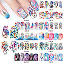 Buy 12Pcs/Set Nail Sticker Water Transfers Stickers Decals TASSEL FEATHER DANGLE