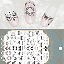 Buy Lace Necklace 3D Nail Art Stickers Black Full Decals