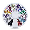 Buy Nail Rhinestones 1.5mm Glitter Acrylic Flatback Tip Gems Wheel