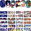Buy 12 Sheets Christmas Water Transfer Nail Stickers Art Decoration Watermark Sticker