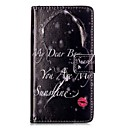 Buy HUAWEI P9 P8 Lite 5X 5C Y5II Y6II Case Cover Red Lips Girl Pattern Painting Card Stent PU Leather Phone