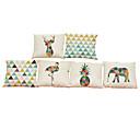 Buy Set 6Geometric animal pattern Linen Pillowcase Sofa Home Decor Cushion Cover