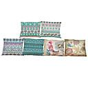 Buy Set 6 Bohemian style Linen Pillowcase Sofa Home Decor Cushion Cover