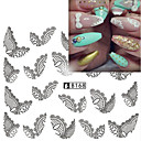 Buy 5pcs/Style Hot Design Sweet Black&White Lace Sticker Fashion Nail Art Water Transfer Decals Manicure Beauty B168