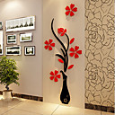 Buy Acrylic Wall Stick Plum Flower 3 d Three-dimensional Creative Crystal TV Setting 60*150Cm