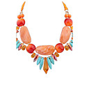 Buy Euramerican Fashion Luxury Personalized Bohemia Exaggerated Joker Acrylic Multicolor Lady Casual Beach Necklace Statement Jewelry
