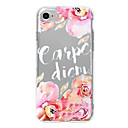 Buy Case iPhone 7 Plus 6 word/phrase Flower Pattern Phone Soft Shell 6/6s iPhone5 5s SE