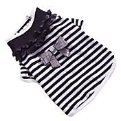 Perros Camiseta Negro Ropa para Perro Primavera/Otoño Lazo