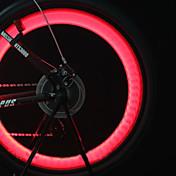 자전거 라이트 바퀴 등 밸브 캡 플래시 라이트 자전거 전조등 LED 싸이클링 백라이트 셀 배터리 루멘 배터리 사이클링 의 motocycle