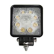 24W 사각형 8 LED 작업 라이트