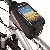 ROSWHEEL Bolsa para BicicletaBolsa para Cuadro de Bici Bolso del teléfono celularCremallera impermeable Bolsa de agua integrada A prueba