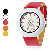 여자와 소녀의 기린 패턴 PU 아날로그 석영 손목 시계 (분류 된 색깔)