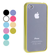 Transparent Frosted Hard Case for iPhone 4/4S (Assorted Colors)