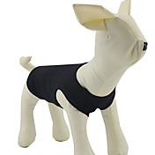 Perros Camiseta Naranja / Amarillo / Negro / Blanco / Gris Ropa para Perro Verano Un Color