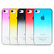 iPhone 4/4S를위한 거품 그라디언트 색상 투명 백 케이스 (분류 된 색깔)