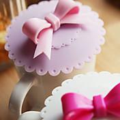 입체 bowknot의 핸들 누수 방지 컵 커버 (색상 랜덤)