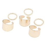 (6 PCS) 감미로운 여자의 반지 (金色 银色)