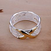 Band Rings Statement Rings European Silver Plated Circle Geometric Jewelry For Party Daily Casual 1pc