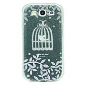 Para Funda Samsung Galaxy Ultrafina / Diseños / En Relieve Funda Cubierta Trasera Funda Animal Policarbonato Samsung S3