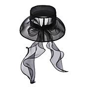 Elegante de la boda del Organza / el partido / el sombrero al aire libre con lentejuelas (más colores)