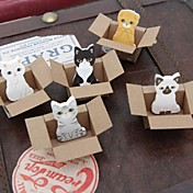 작은 상자 동물 장난감 자기 스틱 노트 (색상 랜덤)