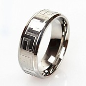 Z&X®  Men's Fashion And Personality Great Wall Lines Titanium Steel Ring Christmas Gifts
