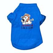 개 티셔츠 블루 강아지 의류 모든계절/가을 문자와 숫자 코스프레 / 웨딩