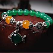 Noble (Fish) Ágata verde Topaz Marrow Bead Bracelet (Verde) (1 PC)