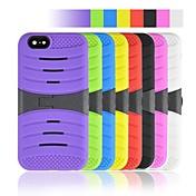 angibabe 2 en 1 modelo de la raya de plástico y silicona para el iphone 6