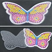 1pcs plantilla tablero claro patrón de mariposa de colores para los granos Hama Beads 5mm fusibles rompecabezas bricolaje