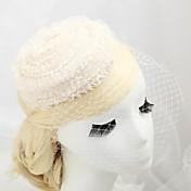 Mujer Niña de flor Encaje Perla Artificial Franela de Algodón Celada-Boda Ocasión especial Al Aire Libre Tocados Sombreros