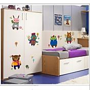 doudouwo® 벽 스티커 벽 데칼, 동물 창조적 겨울 작은 동물의 PVC 벽 스티커