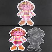 1pcs plantilla patrón hija clara cuentas fusibles tablero chica de Hama Beads 5mm rompecabezas bricolaje